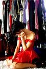 Red-renew-vintage-dress-black-jeffery-campbell-boots