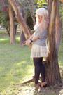 Heather-gray-zara-sweater-cream-lace-zara-skirt