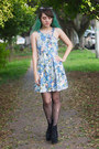 Sky-blue-floral-pull-bear-dress-black-jeffrey-campbell-boots