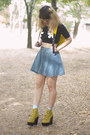 Yellow-tardy-jeffrey-campbell-boots-light-blue-daisy-print-forever-21-socks