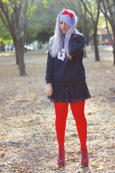 Jeffrey Campbell boots - Zara skirt