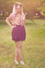 Floral-print-zara-skirt-oxfords-bamboo-shoes-glitter-bershka-socks