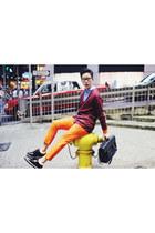 carrot orange orange trousers H&M pants