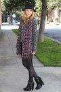 Black-zoe-sam-edelman-boots-dark-gray-knit-forever-21-sweater-pink-urban-out