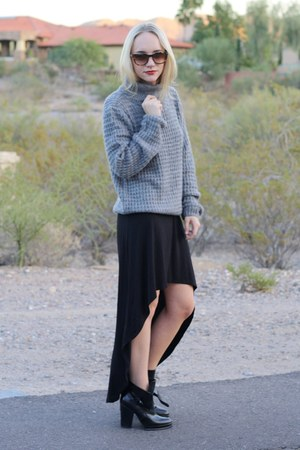 Zara boots - high low maxi asos dress - jack wayfarer Tom Ford glasses