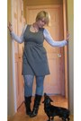 Black-george-boots-journalism-modcloth-dress-teal-target-tights-old-navy-t