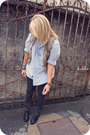 H-m-shirt-brown-vest-accessories-jeans-shoes