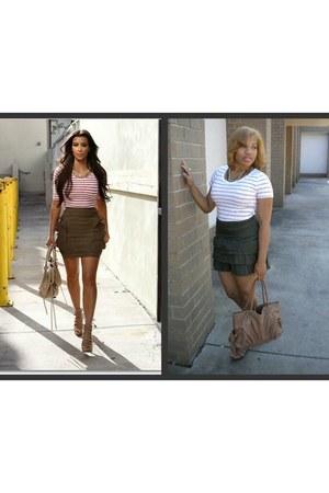 merona t-shirt - ruffled Old Navy skirt - gladiator Jessica Simpson wedges