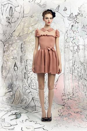 salmon Valentino dress