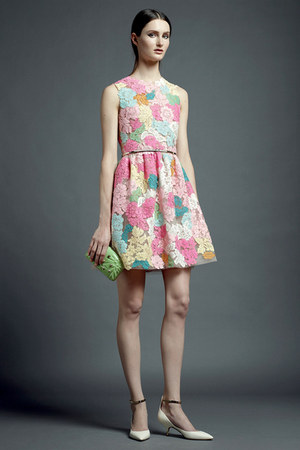 bubble gum Valentino dress