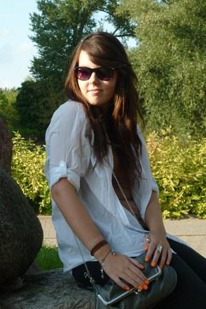c&a ring - H&M shirt - house bag - Ray Ban sunglasses - Apart bracelet - H&M top