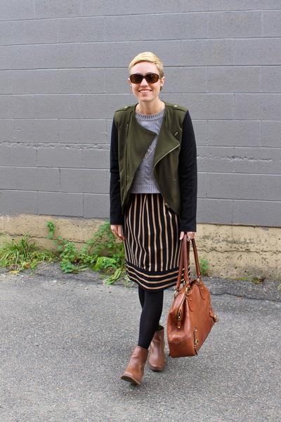 Target blazer - Famous Footwear boots - Target dress - TJ Maxx sweater