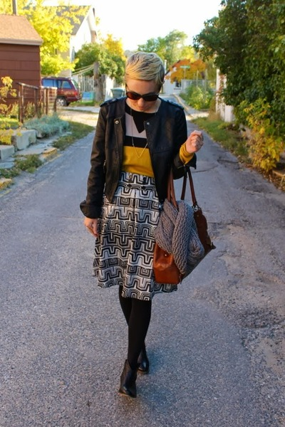 modcloth sweater - Steve Madden boots - Target jacket - banana republic bag