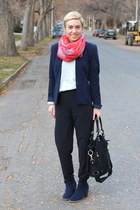 Old Navy boots - H&M blazer - Target shirt - Ellington Handbags bag