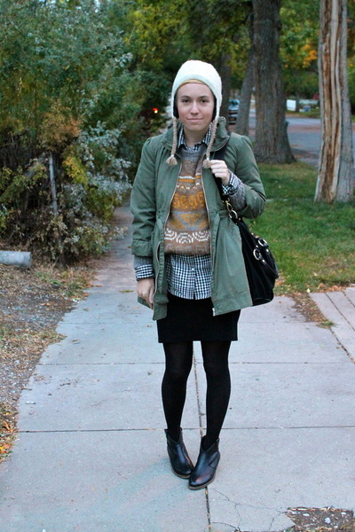Steve Madden boots - H&M jacket - Target shirt - Ellington Handbags bag