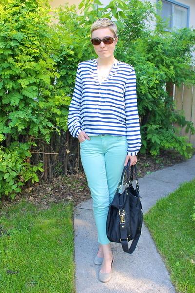 Ellington Handbags bag - Buffalo pants - Nine West wedges - Zara blouse