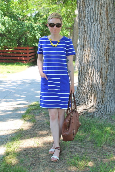 Gap dress - banana republic bag - Target sandals - Etsy necklace