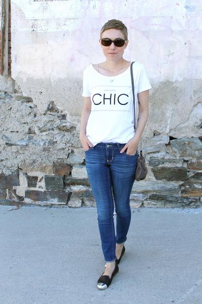 H&M shirt - Old Navy jeans - Nine West purse - Dolce Vita flats