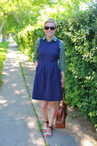madewell dress - banana republic bag - Old Navy blouse - Target sandals