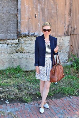 H&M blazer - banana republic bag - kate spade sunglasses - H&M skirt