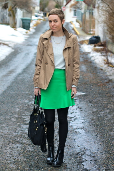 Zara skirt - Zara boots - Forever 21 jacket - Target sweater