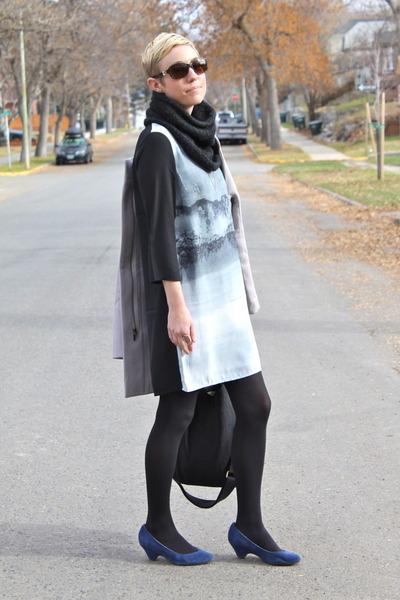 H&M dress - Old Navy coat - BC footwear heels