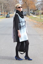 H&M dress - Old Navy coat - BC footwear heels