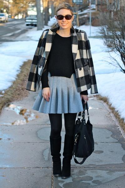 H&M skirt - Chinese Laundry boots - banana republic jacket - TJ Maxx sweater