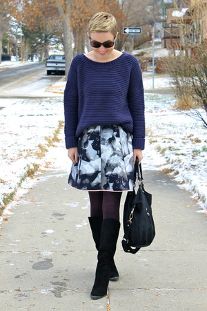 Target skirt - Chinese Laundry boots - TJ Maxx sweater