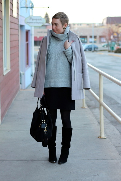 Gap sweater - Chinese Laundry boots - Old Navy dress - Old Navy coat