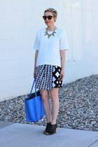 H&M shirt - Zara bag - Target skirt - Target heels - H&M necklace