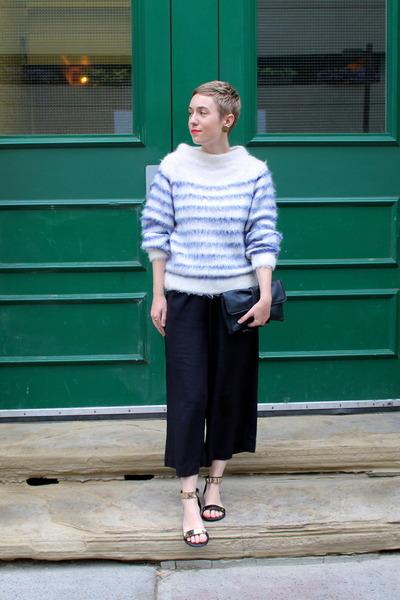 H&M sweater - asos purse - H& pants - Report sandals