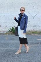 Forever 21 jacket - Target bag - Forever 21 skirt - Zara top - Nine West heels