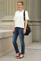 Gap jeans - H&M shirt - Old Navy wedges