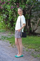 H&M shirt - H&M bag - Forever 21 shorts - Old Navy flats
