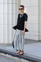 H&M top - Old Navy wedges - Zara pants - H&M necklace