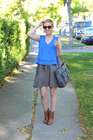 Nine West boots - TJ Maxx shirt - Target bag - banana republic skirt
