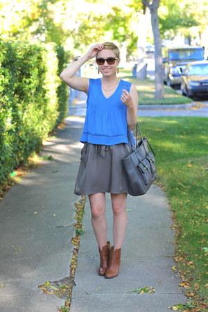 Nine West boots - TJ Maxx shirt - Target bag - banana republic skirt