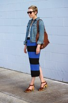 Forever 21 skirt - Target jacket - banana republic bag - Old Navy sandals
