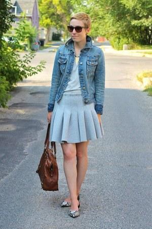 Target jacket - Gap shirt - banana republic bag - Target flats - H&M skirt
