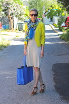 Target dress - H&M blazer - Target scarf - Zara bag - Old Navy sandals