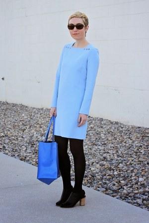 blue Zara bag - light blue Zara dress - black Target heels
