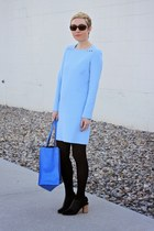 blue Zara bag - light blue Zara dress - black Target heels