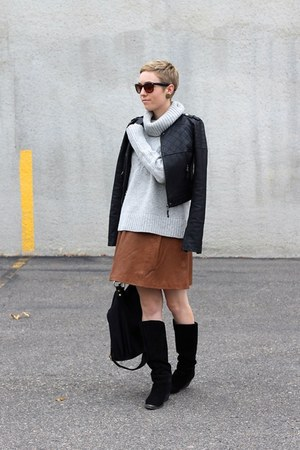 Chinese Laundry boots - Target jacket - Gap sweater - Mango skirt