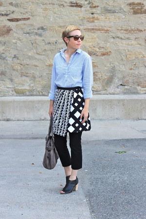 Target skirt - TJ Maxx shirt - Urban Outfitters bag - Target heels - Gap pants