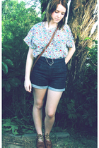 op-shop shirt - op-shop shorts - brown A little boutique somewhere shoes - brown