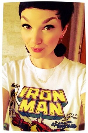 white iron man tshirt Topshop t-shirt