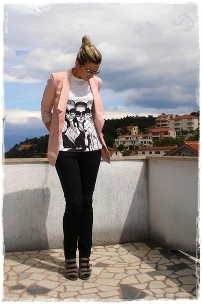 Danny Roberts t-shirt - gray asos shoes - pink Vero Moda blazer