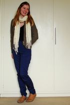 brown - jacket - blue Forever New pants - black - top - brown Rubi shoes shoes -