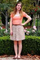 orange Valley Girl top - green Valley Girl skirt - brown novo shoes shoes - brow